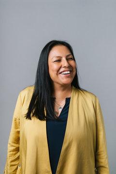 Portrait smiling, happy businesswoman