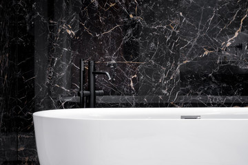 Close-up on elegant bathtub