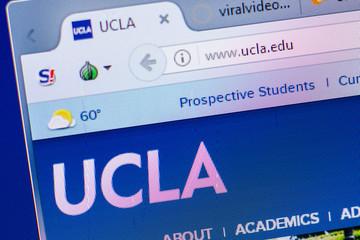 Ryazan, Russia - May 20, 2018: Homepage of Ucla website on the display of PC, url - Ucla.edu.