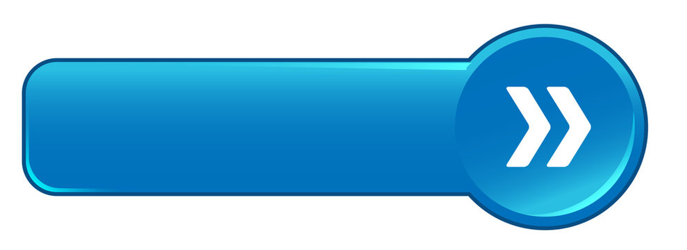 Blue vector web button with arrow