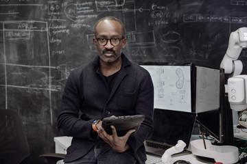Portrait African American of robotics engineer