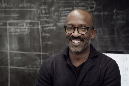 Portrait of African American creative designer