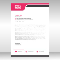 Abstract corporate professional letterhead template design