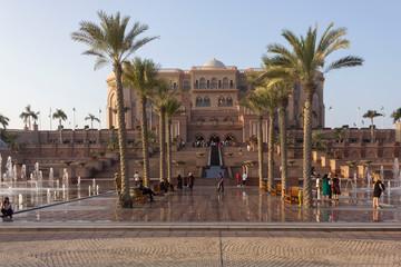 Canvas Prints Abu Dhabi Emirates Palace hotel in Abu Dhabi