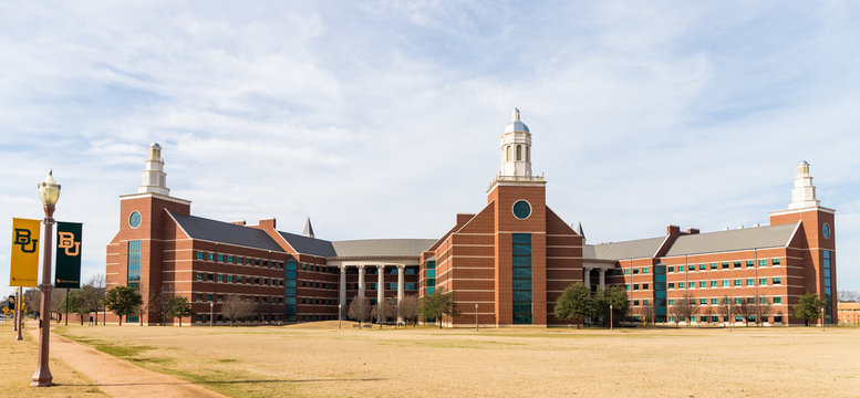 Waco, TX / USA - January 12, 2020: Baylor Sciences Building on the beautiful campus of Baylor University