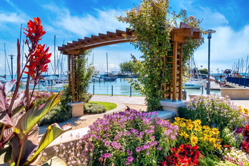 Balaton - idyllic view to the harbor of the Lake Balaton