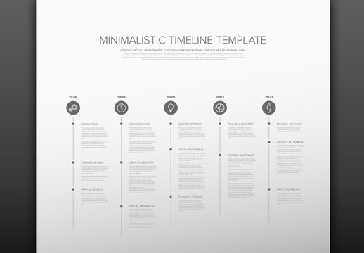 Black and White Timeline Infographic