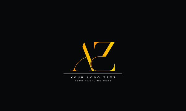 AZ ,Letter Logo Design with Creative Modern Trendy Typography