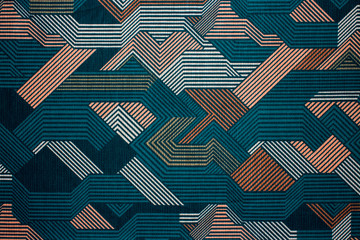 Fabric texture with abstract lines.Fabric background with multi-colored lines.Abstract background.