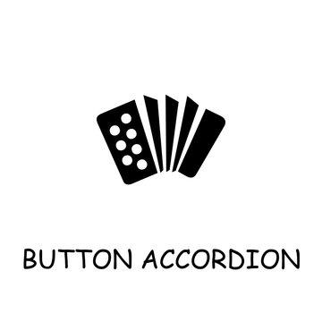 Button Accordion flat vector icon