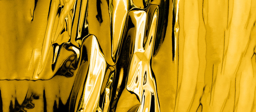 silver - mercury looking background with shinny gold reflection