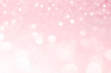 Light pink bokeh,circle abstract light background,Pink shining lights, sparkling glittering...