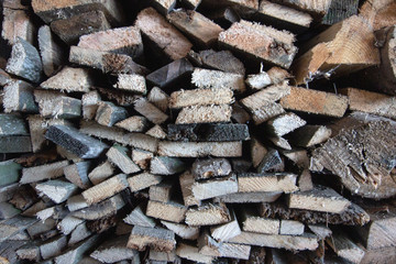 Door stickers Firewood texture Pile or stack of natural firewood logs texture background. Abstract photo of natural wooden logs texture.