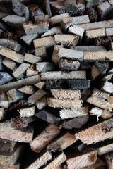 Türaufkleber Brennholz-textur Pile or stack of natural firewood logs texture background. Abstract photo of natural wooden logs texture.