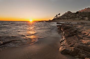 Sunset at the Cabo de las Huertas, Alicante.