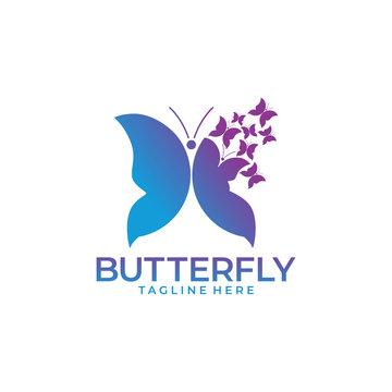 Butterfly Logo Design Vector Illustration