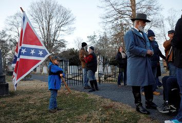 Supporters of Confederate statues and symbols in Lexington, Virginia