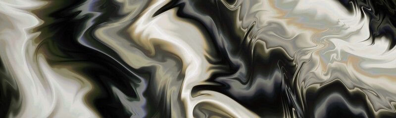 Printed roller blinds Fractal waves Panoramic ripple backdrop. Abstract website header.