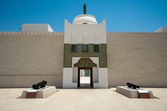 Fort Qasr Al Hosn, a tourist attraction in downtown Abu Dhabi, United Arab Emirates