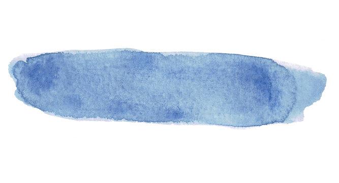 Watercolor Brushstroke Blue
