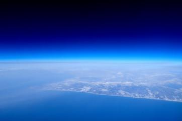 北海道,冬景色,航空写真