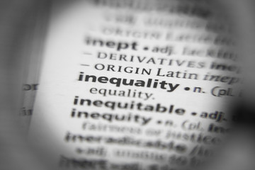 Word or phrase inequality in a dictionary.