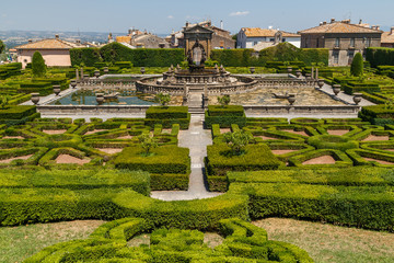 LANTE / ITALY - JULY 2015: The Renascence palace park of Lante, Italy