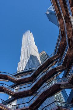 Skyscraper from the vessel in Hudson Yards.Manhattan. Manhattan