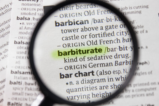 The word or phrase barbiturate in a dictionary.