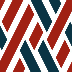 Seamless pattern with oblique colored segments