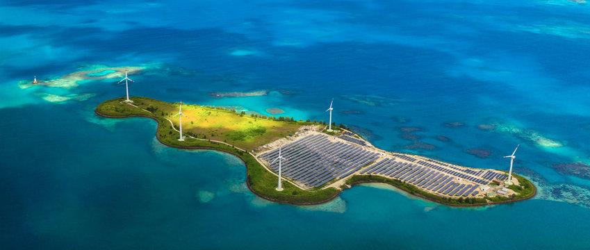 Solar farm on Romainville Island