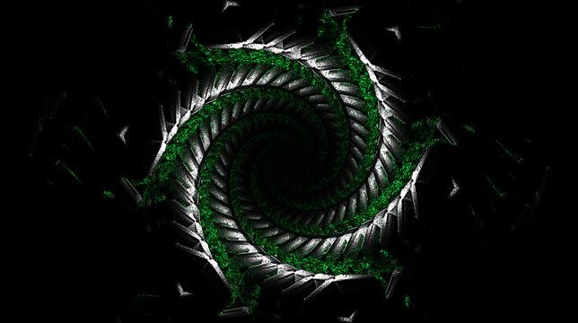 abstract fractal background snake vortex dmt concept