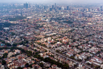 mexico city aerial view panorama