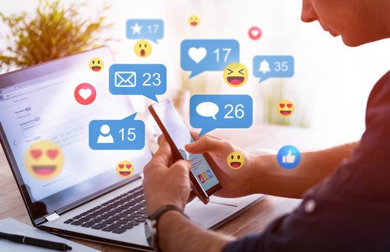 Social media concept.