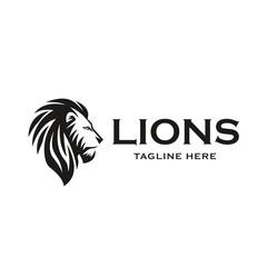 Lion Head Icon Logo Design. Vector illustration