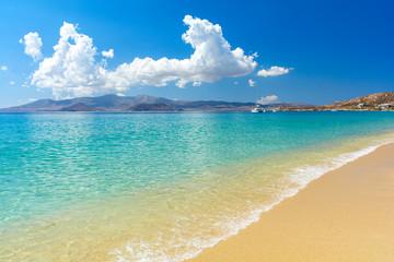 beautiful sandy beach on Naxos island, Cyclades, Greece