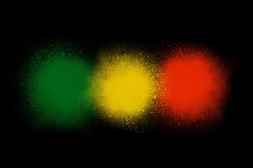 Green yellow red reggae background concept