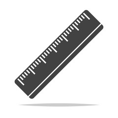 Ruler icon vector isolated illustration
