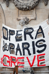 Paris Opera musicians perform against pension reform plans in Paris
