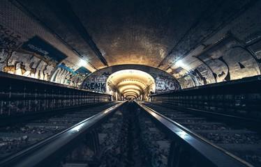 abandoned metro station in Paris