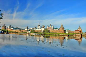Poster Channel The Solovetsky Monastery - fortified monastery located on the Solovetsky Islands in the White Sea in northern Russia