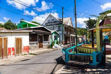 Saint Lucia, West Indies - Anse La Raye city center