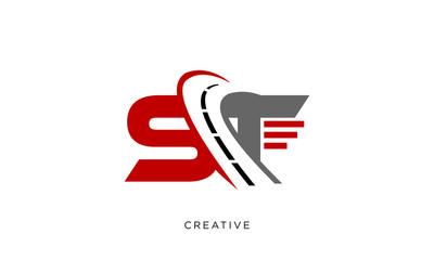 st street logo design vector icon