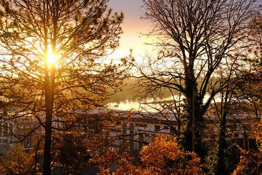 sunrise over willamette