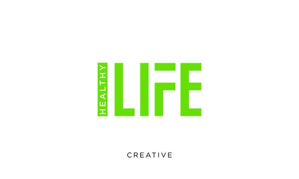 healty life logo design vector