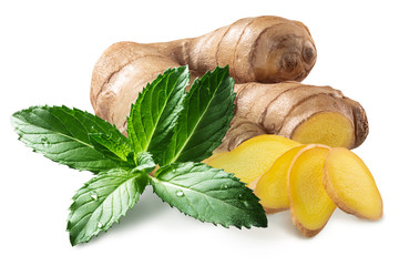 Ginger with mint, paths