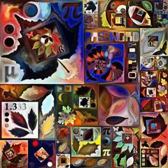 Fotobehang Graffiti collage Computing Color Way