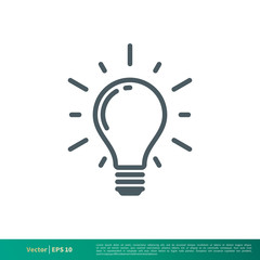 Light bulb icon vector logo template