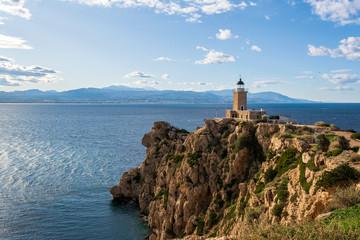 Cape Melagkavi Lighthouse also known as Cape Ireon Light