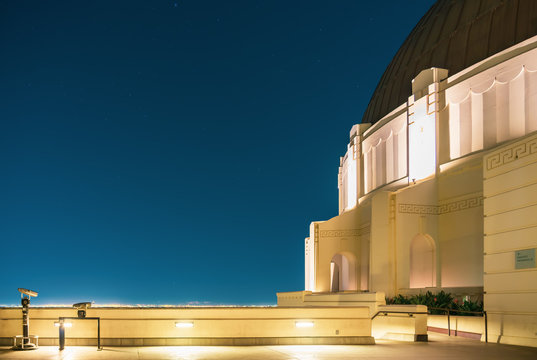 Griffith Observatory overlooking Los Angeles at night